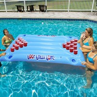 24 Cup Inflatable Beer Pong Table Pool Float