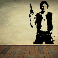 Star Wars Vinyl Wall Decal Wall Decor Han Solo Sticker Home Decor Kids Children Room Nursery Decal