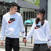 Nike fashion casual Small Terry sweater printed and embroidered