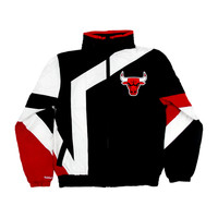 Mitchell & Ness Chicago Bulls Team Colors The NBA 1 On 1 Windbreaker Jacket