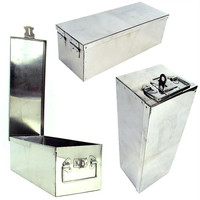 Stalwart  Oversized 12 inch Metal Storage Lock Box wi