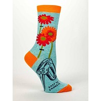 Easy to Squeeze Women's Quirky Crew Socks Hipster/Nerdy/Geeky/Trendy, Colorful Funny Novelty Socks with Cool Design, Bold/Crazy/Unique Retro Dress Socks