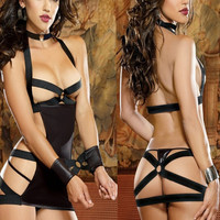 2016 sexy lingerie hot SM rope ring design langerie sexy collar erotic lingerie  sexy backless sexy costumes
