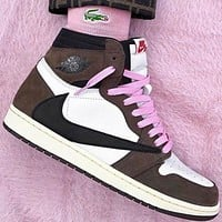 NIKE Air Jordan 1 x Travis Scott joint retro high-top basketball shoes