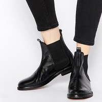 H by Hudson Sophie Black Leather Chelsea Ankle Boots