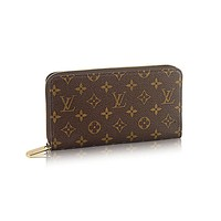 Authentic Louis Vuittom Monogram Canvas Zippy Organiser Wallet Article: M60002