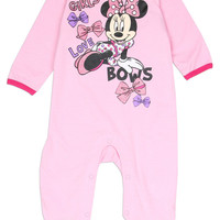 Minnie Mouse Newborn Baby's Girls Love Bows Onesuit