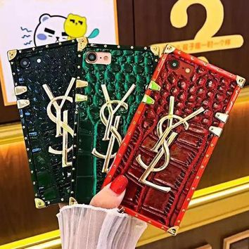 Perfect YSL Fashion Luxury Print iPhone Phone Cover Case For iphone 6 6s 6plus 6s-plus 7 7plus