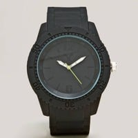 AEO Black Rubber Watch   American Eagle Outfitters
