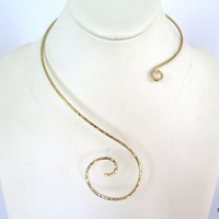 Asymmetrical brass collar | Asymmetrical Necklace