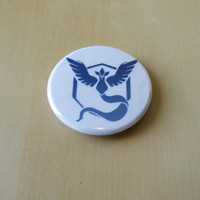 Pokemon Go Team Mystic~ 1.75 Inch Button