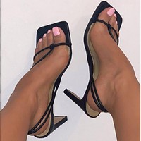 Fashion Women's High Heels Sandals Without Tights Party Shoes