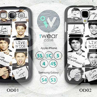 One Direction Samsung Galaxy S3 S4 Case,One Direction Galaxy S3 S4 Hard Case,cover skin Case for Galaxy S3 S4,More styles