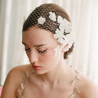 Retro Floral and Petal Europe and the Holy wedding bride hair headdress Beaded birdcage Bridal wedding veil headpieces = 1929395332