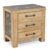 Urbane End Table Natural Fir Wood