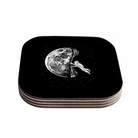 "BarmalisiRTB ""The Night Has Come"" Black White Coasters (Set of 4)"