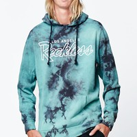 Young & Reckless Tie-Dye Pullover Hoodie - Mens Hoodie - Blue