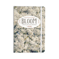 "Robin Dickinson ""Bloom Where You Are Planted"" White Floral Everything Notebook"