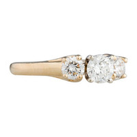 1ctw Three-Stone Diamond Ring