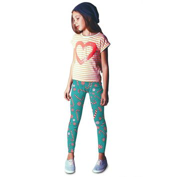 Youth Candy Cane - Teal