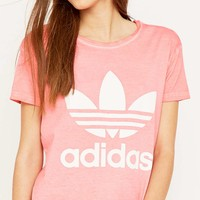 adidas Originals Premium Essentials Washed Pink T-shirt - Urban Outfitters
