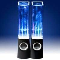 Vktech Led Dancing Water Speakers Light Show Fountain Speakers for Cellphone Notebook Mp4 Mp3 (Black)