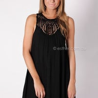 blessed union tunic dress - black at Esther Boutique
