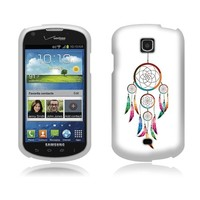 Fincibo (TM) Samsung Galaxy Stellar Jasper I200 Protector Cover Case Snap On Hard Plastic - Dream Catcher, Front And Back