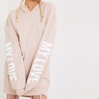 My Love Nude Sweater Dress