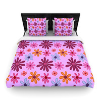 "Jane Smith ""Woodland Floral"" Purple Flowers Lightweight Duvet Cover"