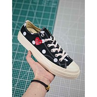 Cdg X Converse Chuck Taylor All Star 1970s Low Top Black