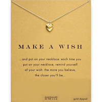 Dogeared Make a Wish Love Heart 18K Gold Plated Short Chain Necklace