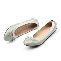 Handmade Leather Ballet Flats Heel Women Shoes With Bow Casual Female Slip On Flats Loafer Casual Female 35-41  zapatos mujer