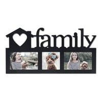 """Decorative Black Wood """"Family"""" Wall Hanging Picture Photo Frame"""