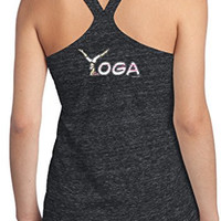 Yoga Clothing for You Ladies Yoga Spelling T-back Tank Top