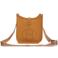 Hermes Fashionable and Personalized Ladies Small Satchel Pure Color One Shoulder Messenger Bag