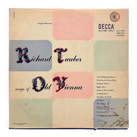 "Erik Nitsche record album design, 1951. ""Richard Tauber: Songs of Old Vienna"" LP"