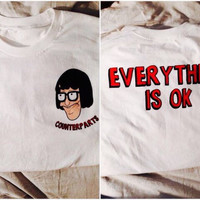 Counterparts/Everything okay Back White t Shirt
