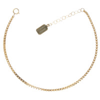 BOX CHAIN ANKLET - gold