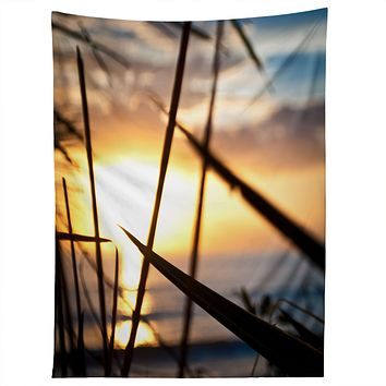 Bird Wanna Whistle Beach Sunset Tapestry