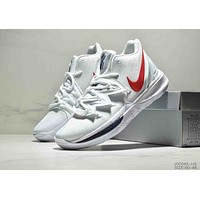NIKE Kyrie 5 new tide brand men's sports combat wear basketball shoes white