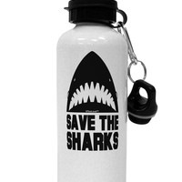 Save The Sharks Aluminum 600ml Water Bottle