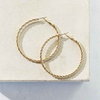 Twisted Rope Hoop Earring- Gold One
