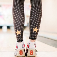 polka dot cowgirl black hot pants