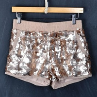 Champagne Celebrations Sequin Shorts