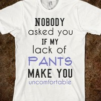 Lack of Pants tee ~JoBows~