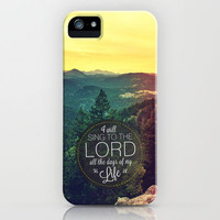 Psalm 104:33 Worship  iPhone Case by Pocket Fuel