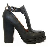 Black Ponder Open Panel Booties