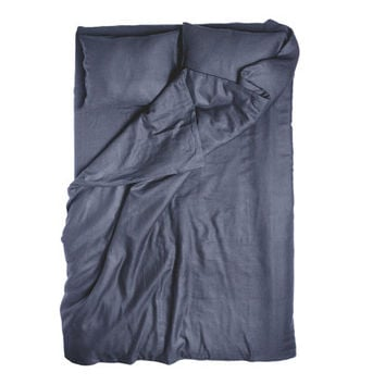 Charcoal duvet Full or Twin bedding Linen pillowcase and duvet cover by Lovely Home Idea