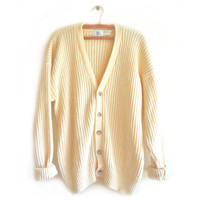 OVERSIZED KNIT CARDIGAN from GET HIGH WAISTED